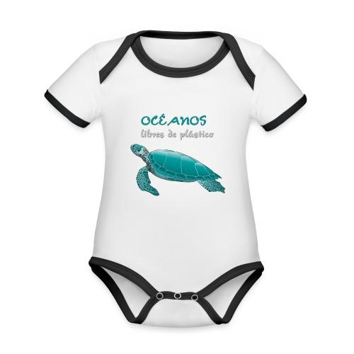 Océanos libres de plástico - Body contraste para bebé de tejido orgánico