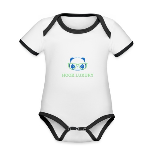 Logo Panda - Body contraste para bebé de tejido orgánico