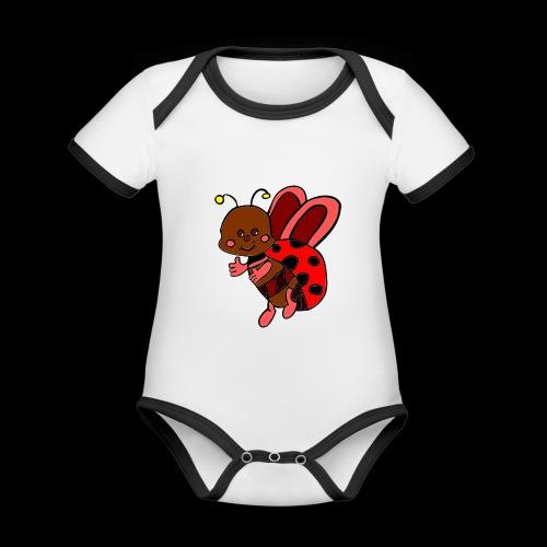 marienkaefer bunt - Baby Bio-Kurzarm-Kontrastbody