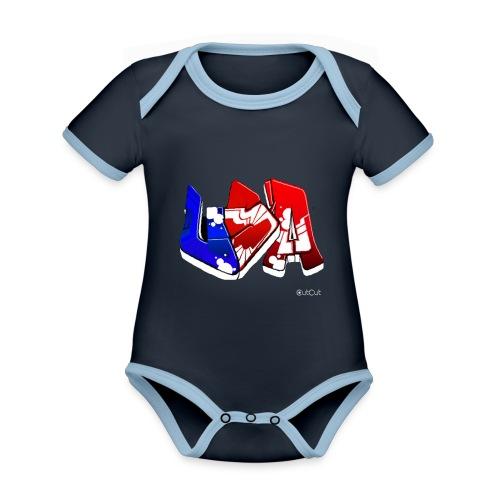 USA - Body Bébé bio contrasté manches courtes