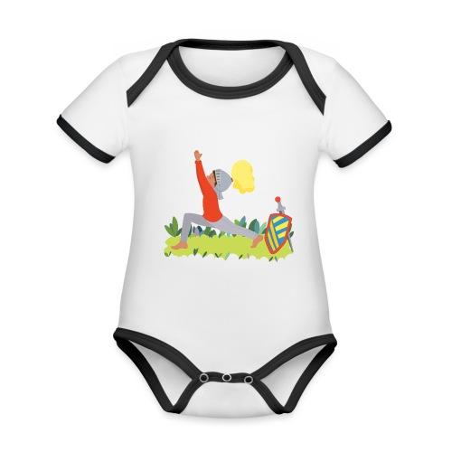 Der Ritter - Baby Bio-Kurzarm-Kontrastbody