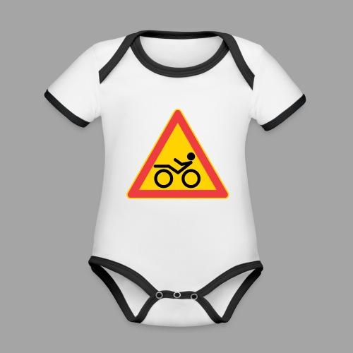 Traffic sign Recumbent - Vauvan kontrastivärinen, lyhythihainen luomu-body