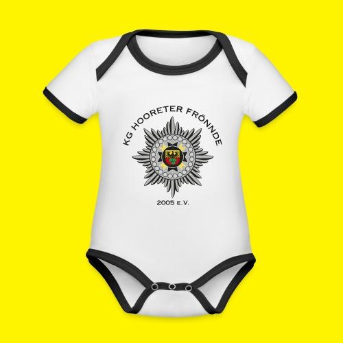 Schwarze Schrift - Baby Bio-Kurzarm-Kontrastbody