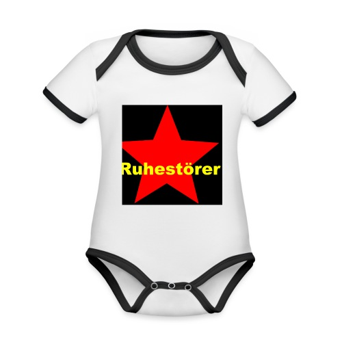 Ruhestörer - Baby Bio-Kurzarm-Kontrastbody