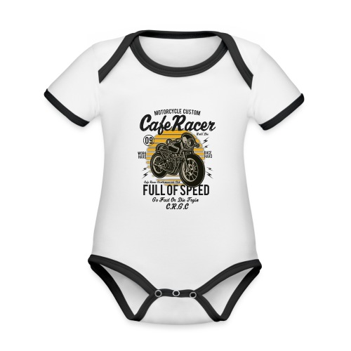 Full of speed - Organic Baby Contrasting Bodysuit