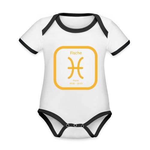Horoskop Fische12 - Baby Bio-Kurzarm-Kontrastbody