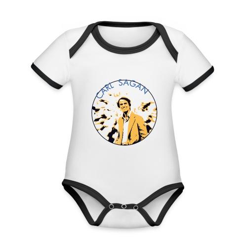 Vintage Carl Sagan - Organic Baby Contrasting Bodysuit