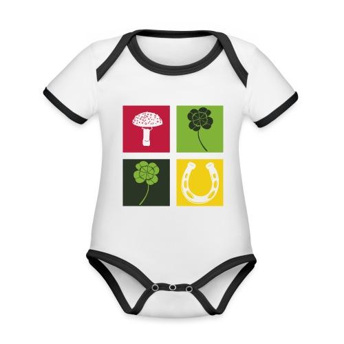 Just my luck Glück - Baby Bio-Kurzarm-Kontrastbody