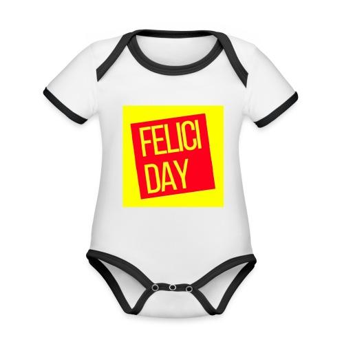 Feliciday - Body contraste para bebé de tejido orgánico