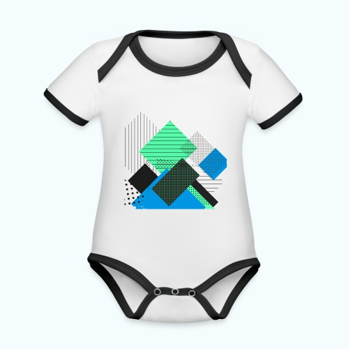 Abstract rectangles pastel - Organic Baby Contrasting Bodysuit