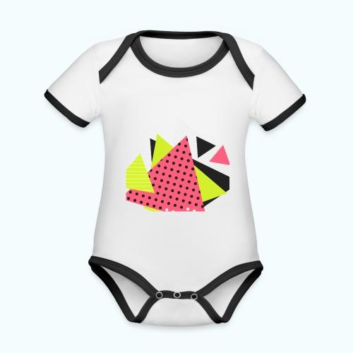 Neon geometry shapes - Organic Baby Contrasting Bodysuit