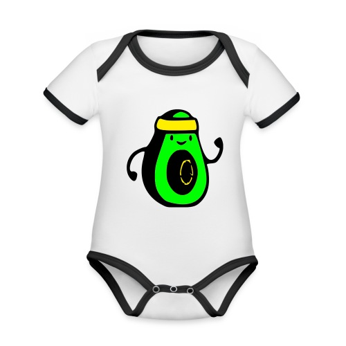 aguacate ninja - Body contraste para bebé de tejido orgánico