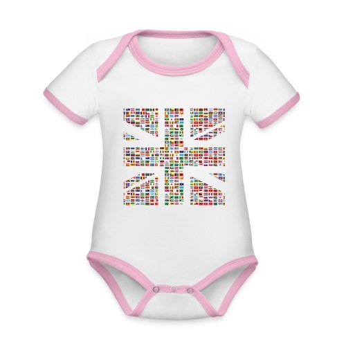 The Union Hack - Organic Baby Contrasting Bodysuit