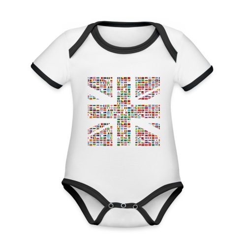 The Union Hack - Organic Baby Contrasting Bodysuit