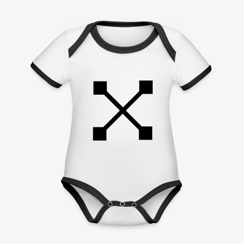 X BLK - Baby Bio-Kurzarm-Kontrastbody