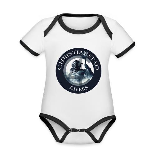 Logotype-2 - Ekologisk kontrastfärgad kortärmad babybody