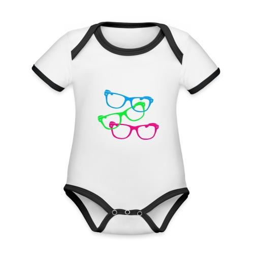 lunettes - Body Bébé bio contrasté manches courtes