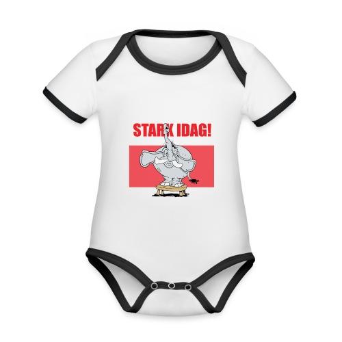 Stark idag - Ekologisk kontrastfärgad kortärmad babybody
