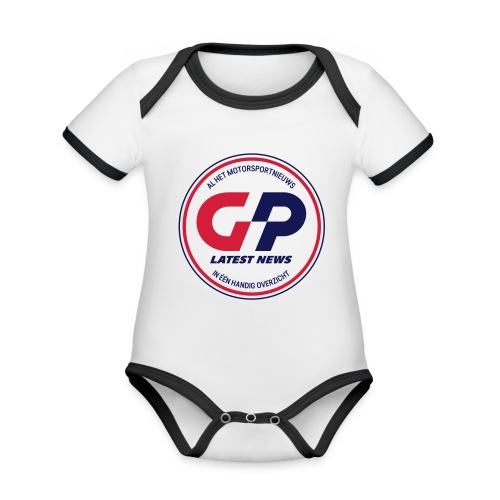 retro - Organic Baby Contrasting Bodysuit