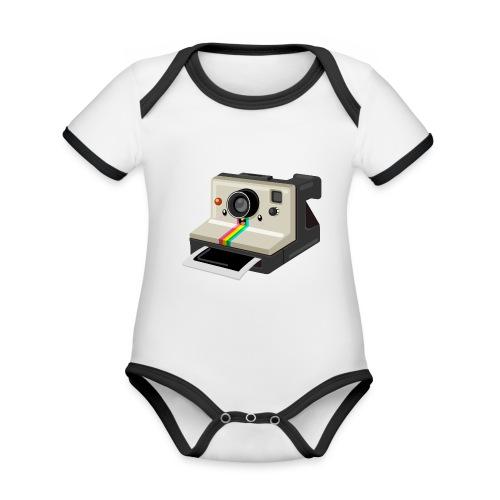 Polaroid 1000 kawaii - Body Bébé bio contrasté manches courtes
