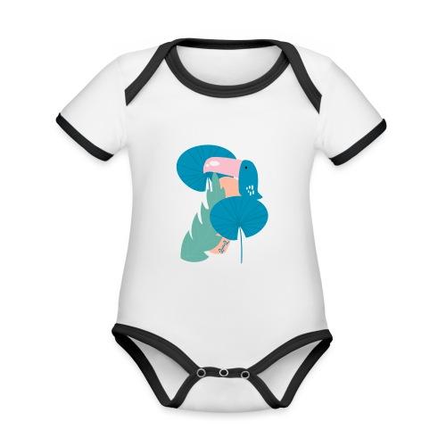 Modern toucan - Body da neonato a manica corta, ecologico e in contrasto cromatico