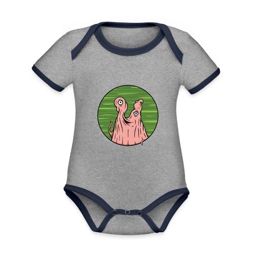 Wiley Wiggleface - Organic Baby Contrasting Bodysuit