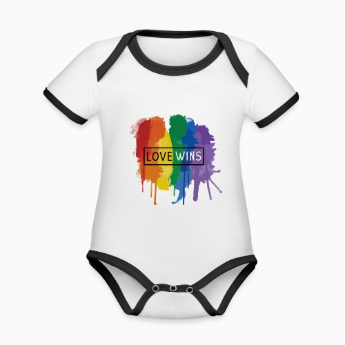 Love Wins - Organic Baby Contrasting Bodysuit
