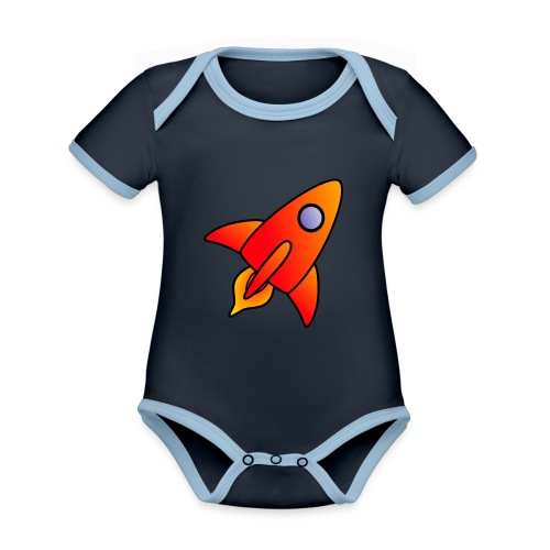 Red Rocket - Organic Baby Contrasting Bodysuit