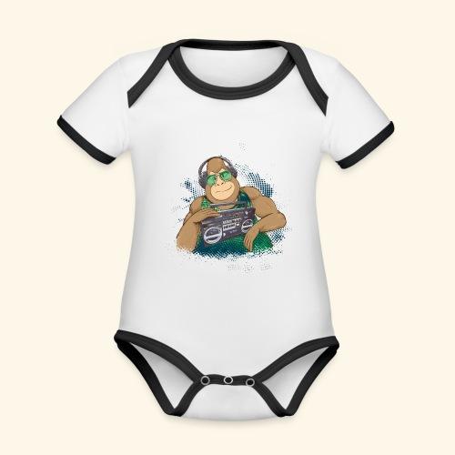 Gorilla Jungle Hiphop - Body contraste para bebé de tejido orgánico