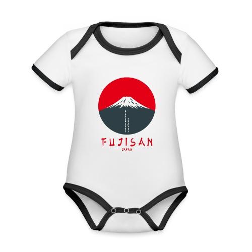 Fujisan - Body da neonato a manica corta, ecologico e in contrasto cromatico