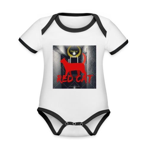 Red Cat (Deluxe) - Organic Baby Contrasting Bodysuit