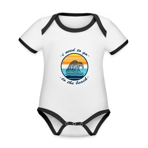 Beach Vibes - Baby Bio-Kurzarm-Kontrastbody
