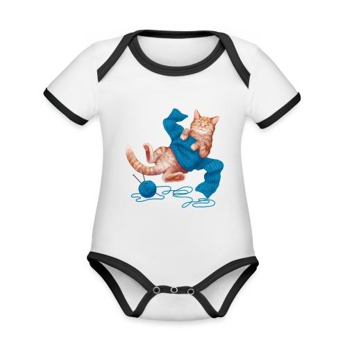 Cozy Cat - Baby Bio-Kurzarm-Kontrastbody
