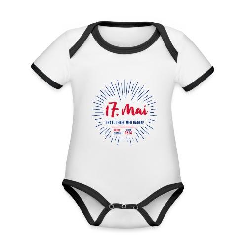 17. mai T-skjorte - Det norske plagg - Økologisk kortermet kontrast-babybody