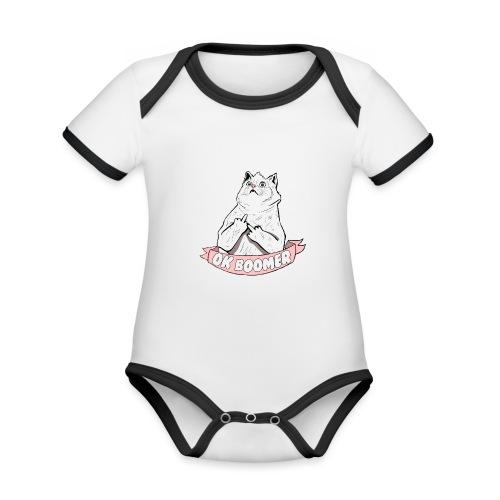 OK Boomer Cat Meme - Organic Baby Contrasting Bodysuit