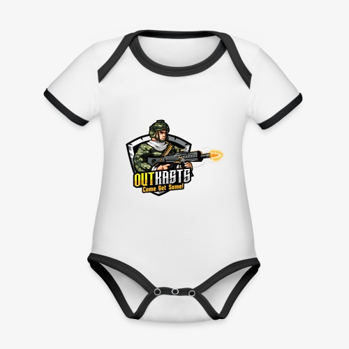 OutKasts [OKT] Logo 2 - Organic Baby Contrasting Bodysuit