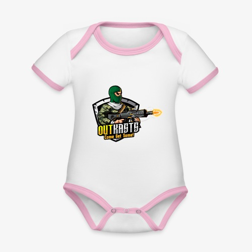 OutKasts [OKT] Logo 1 - Organic Baby Contrasting Bodysuit