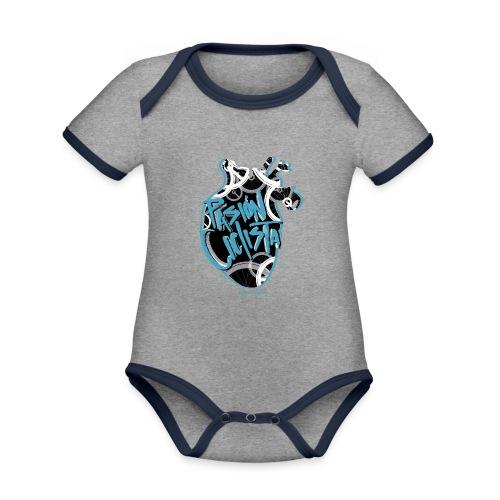 PASIÓN CICLISTA - Body contraste para bebé de tejido orgánico