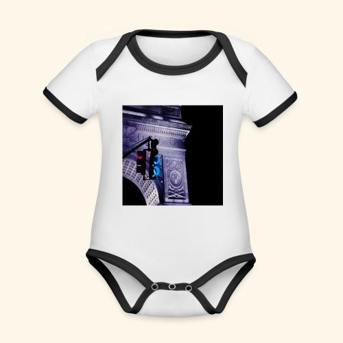Semaforo americano - Body da neonato a manica corta, ecologico e in contrasto cromatico