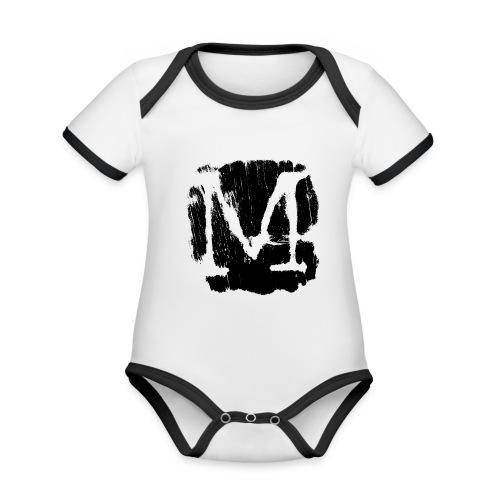M3 - Body da neonato a manica corta, ecologico e in contrasto cromatico