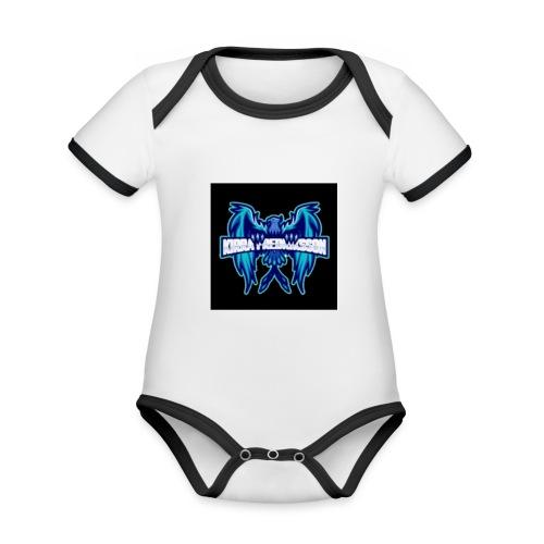 Kira - Ekologisk kontrastfärgad kortärmad babybody