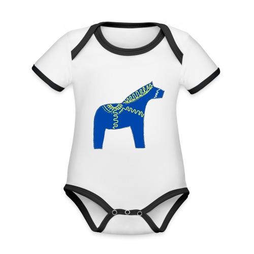 Dala by Pinni Art® blue - Baby Bio-Kurzarm-Kontrastbody