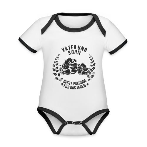Vater und Sohn beste Freunde für das Leben - Baby Bio-Kurzarm-Kontrastbody