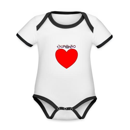 Cupido rompe corazones - Body contraste para bebé de tejido orgánico