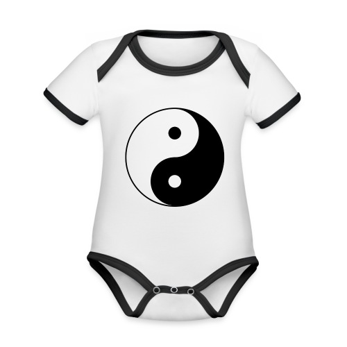 800px Yin yang svg 1 - Baby Bio-Kurzarm-Kontrastbody