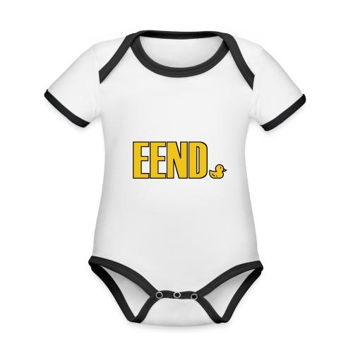 EEND - Baby contrasterend bio-rompertje met korte mouwen