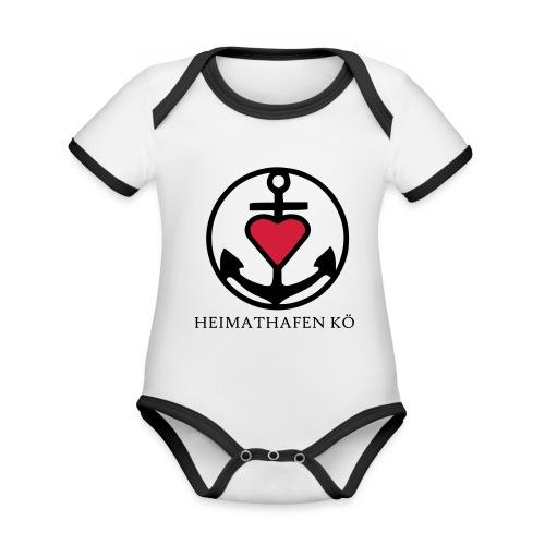 Heimathafen KÖ - Baby Bio-Kurzarm-Kontrastbody