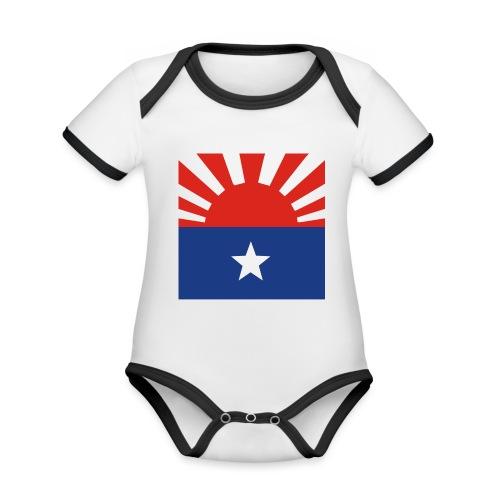 Karen flagga - Ekologisk kontrastfärgad kortärmad babybody