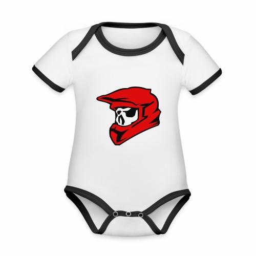 Schaedel Motocross - Baby Bio-Kurzarm-Kontrastbody