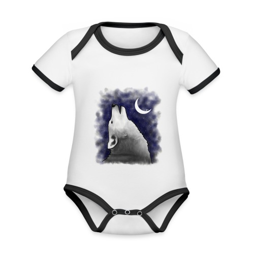 Wolf - Organic Baby Contrasting Bodysuit